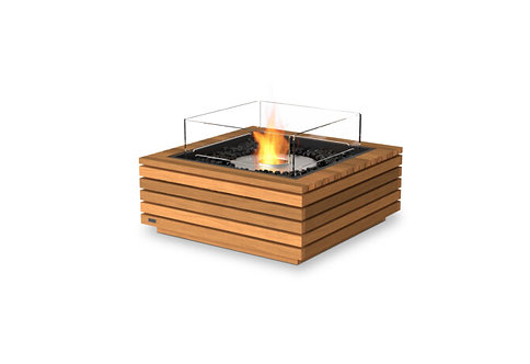 "Base 30"" SQ Teak Fire Table"