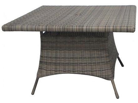 "Bermuda 48"" Sq Dining Table w/ Glass Top"