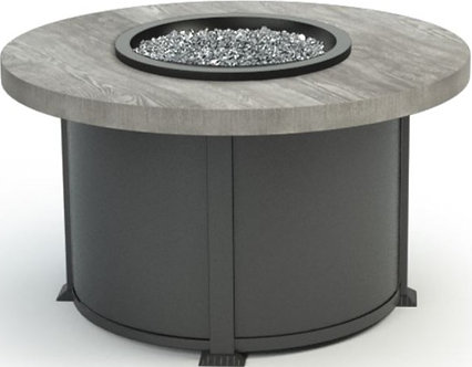 Timber Round Fire Table