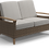Gloster Pepper Marsh Loveseat