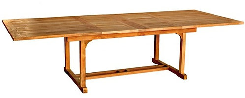 "Teak 115"" - 80"" Rectangle Extension Table"