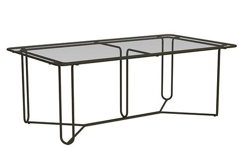 """Brown Jordan Walter Lamb 77"""" Glass Dining Table"""