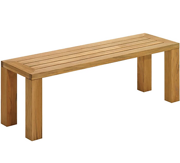 """Square Backless 51"""" Bench"""