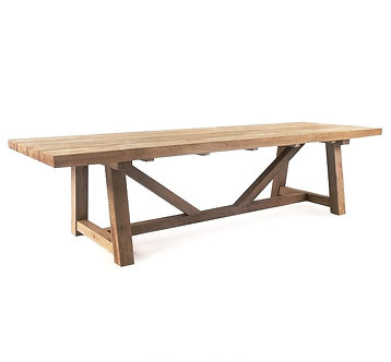 """Trestle 98"""" Rect Dining Table"""