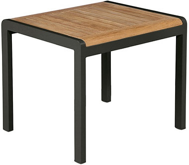 "Aura 20"" End Table w/Teak Top"