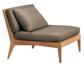 Teak Armless Lounge Chair
