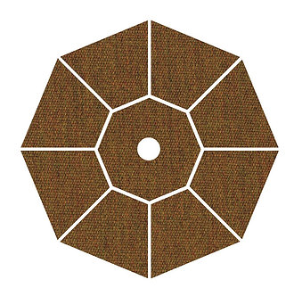 "Sunbrella Fabric - Teak - 4""x 4"" Swatch"