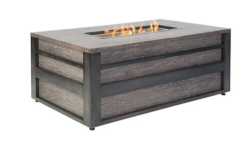 "Lucca 50"" Rectangular Firepit - Two Tone"