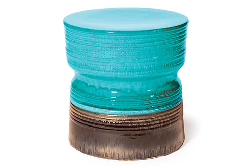 "Ceramic Stool 18.5"" Rd"