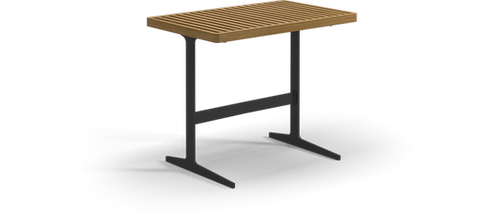 "Gloster Grid 31""x 19"" Rectangular Side Table"