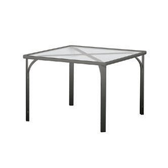 "32"" Square Glass Dining Table"