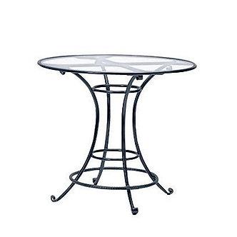 "Roma Bar 42"" Rd Table Glass Top"