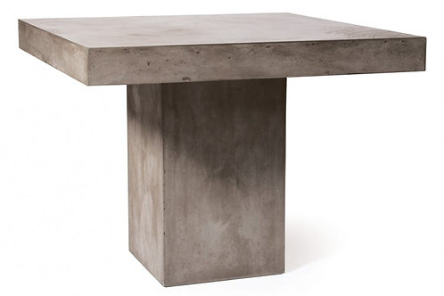 """Concrete Dining Table with Pedestal Base 39""""x39"""""""