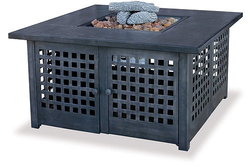 Tile Square Gas Burning Fire Pit