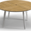 "Thumbnail: Carver 55"" Rd Dining Table Teak Top"