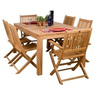 Kingsley Bate, Gloster, Barlow outdoor dining set, Cheap outdoor dining set, Affordable premium outdoor dining set