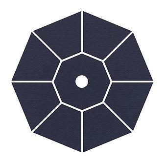 "Sunbrella Fabric - Navy - 4""x 4"" Swatch"