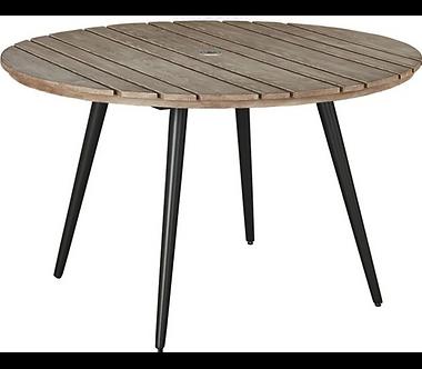 "Azur 48"" Rd Table - Aluminum"