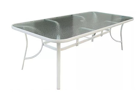 "Isle 84"" rect Glass Table"