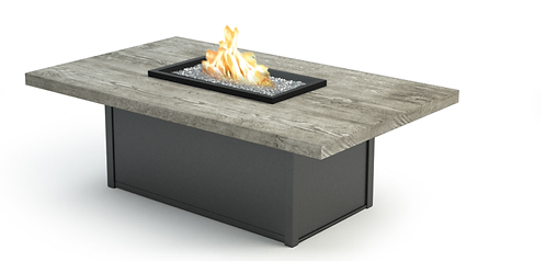 Timber Rectangle Coffee Fire Table