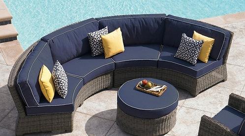 Bermuda Curved Double Sofa
