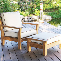 Kingsley Bate Chelsea Lounge Chair and Ottoman