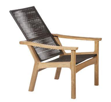 Teak Recliner w/Braided Seat
