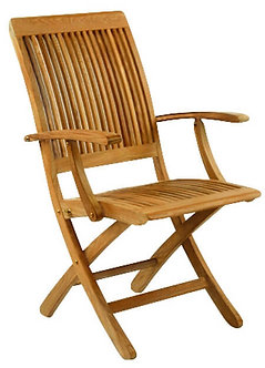 Monterey Folding Dining Arm Chair