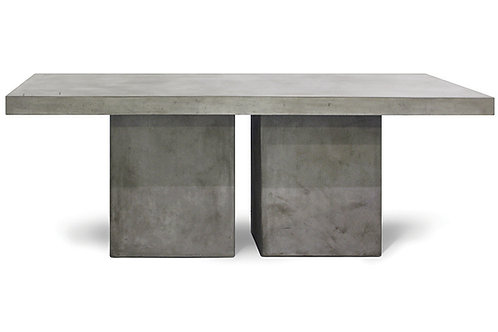 """Concrete Dining Table with 2-Leg Base Set 79""""x36"""""""