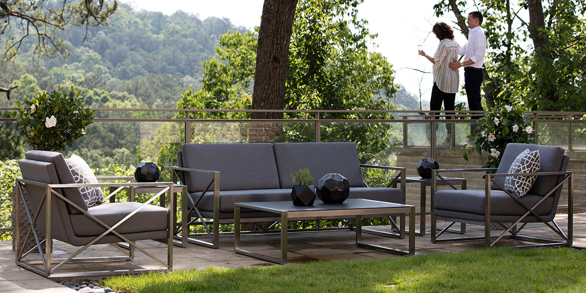 Summer Classics Acero Loveseat and Coffee Table and Lounge Chair