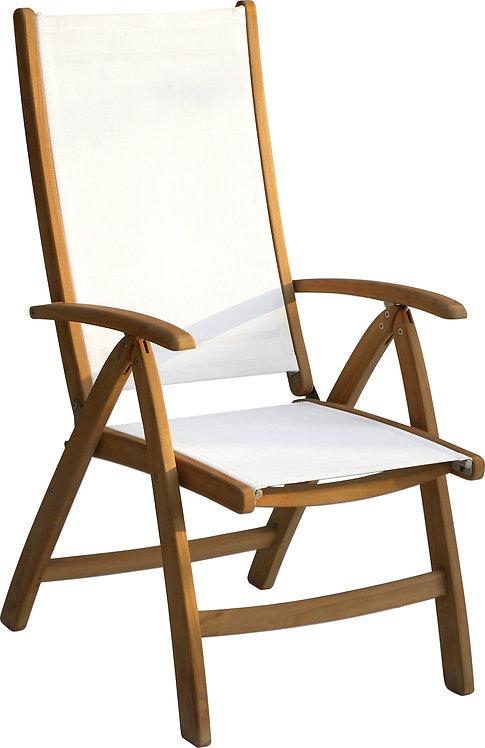 Gloster, Brown Jordan, Kingsley Bate, Barlow, Teak and Sling Adjustable Chair