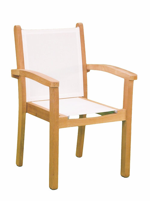 Kingsley Bate, Gloster, Barlow, Dining Chair with arms, Sling, Patio Furniture Dining Chair