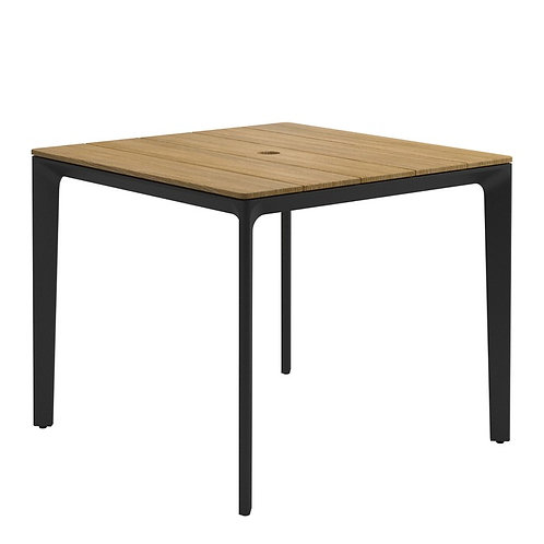 "Gloster Carver 35"" Sq Teak Table"