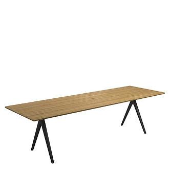 "Split Dining  110"" Table - Teak Top"