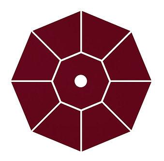 "Sunbrella Fabric - Burgundy - 4""x 4"" Swatch"