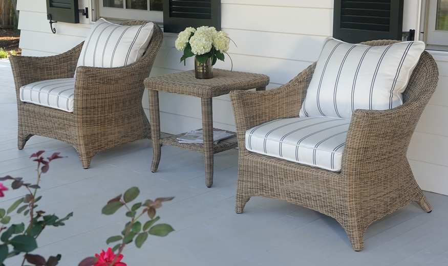 Bainbridge Cape Cod Lounge Chairs and Side Table