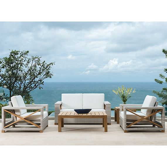 Kingsley Bate Jupiter Lounge Chairs and Ottoman and Sofa