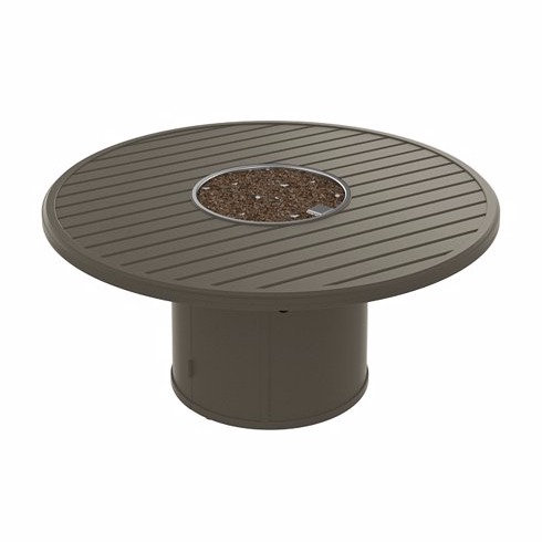 """Tropitone Manchester 54"""" Rd Fire Pit Table"""