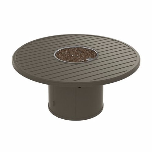 "Tropitone Manchester 54"" Rd Fire Pit Table"