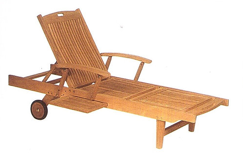 Gloster, Brown Jordan, Kingsley Bate, Barlow, Chaise, Teak Chaise with Adjustable Arms, Teak Chaise, Adjustable Arms