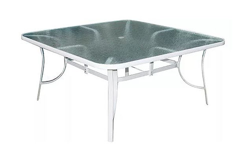 """Isle 60"""" Sq Glass Dining Table"""