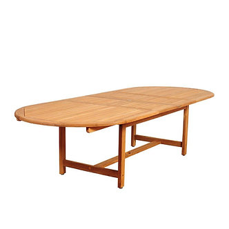 """Classics 118"""" Oval Extension DiningTable"""