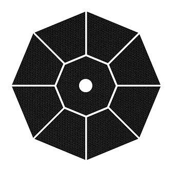 "Sunbrella Fabric - Black - 4""x 4"" Swatch"