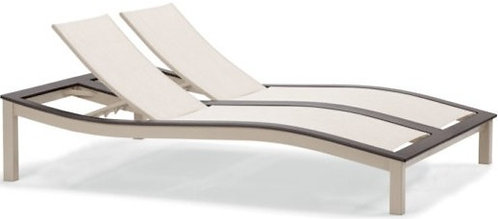 Bazza Contour Armless Double Chaise