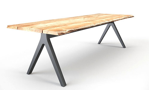 "Raw Split 193"" Rect  Dining Table"