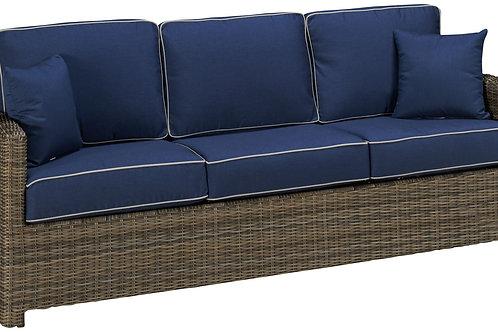 Deep Seating Wicker Sofa, North Cape International Bainbridge, NCI Bainbridge, North Cape International Cabo, NCI Cabo, Brown