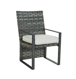 Lucca Woven Dining Arm Chair