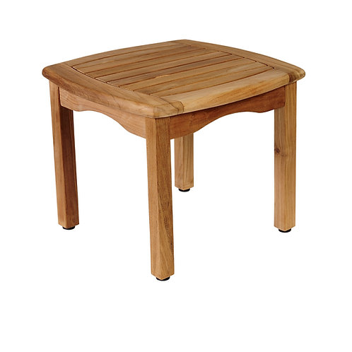 Gloster, Brown Jordan, Kingsley Bate, Barlow, Square Teak End Table, Teak Square End Table