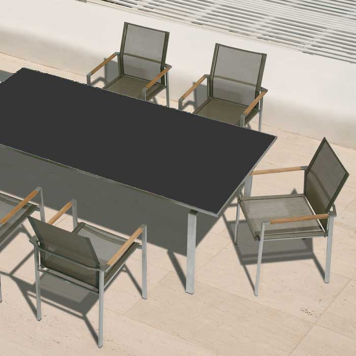 Barlow Tyrie Mercury Dining Set and Dining Table
