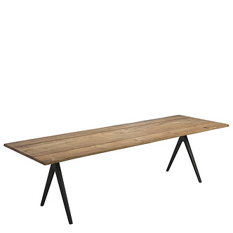 "Raw Split 110"" Rectangular Dining Table"